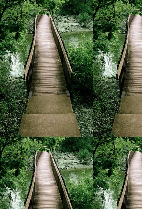 Tapeta Pixerstick Most z lesa - Infrastruktura