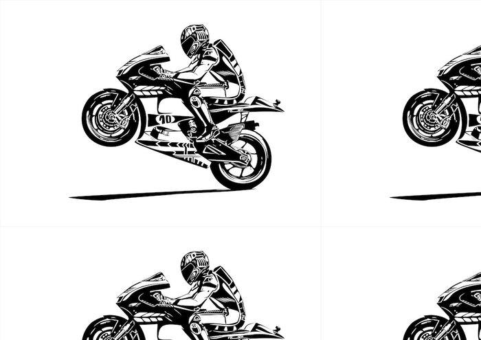 Tapeta Pixerstick Moto gp wheelie - Nálepka na stěny