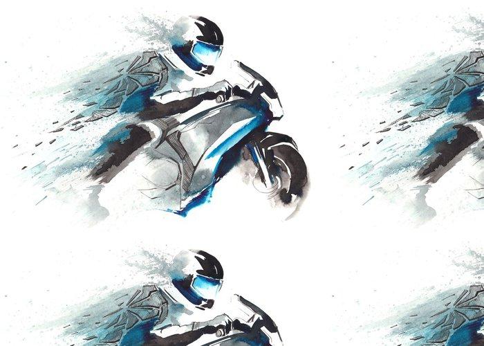 Vinylová Tapeta Motocyklový závodník - Na cestě