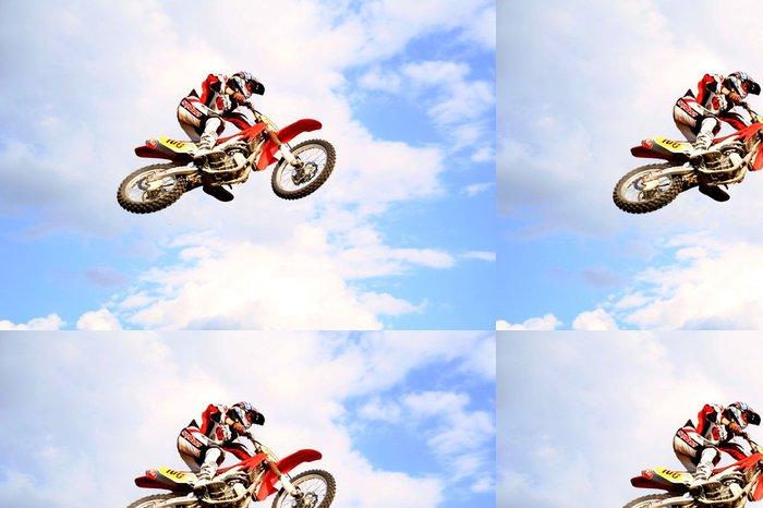 Tapeta Pixerstick Motokros na obloze - Extrémní sporty