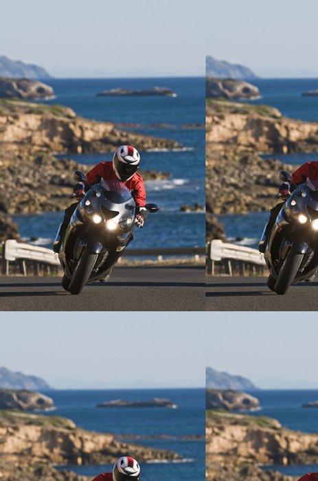 Tapeta Pixerstick Motorkář na Sardinii - Evropa