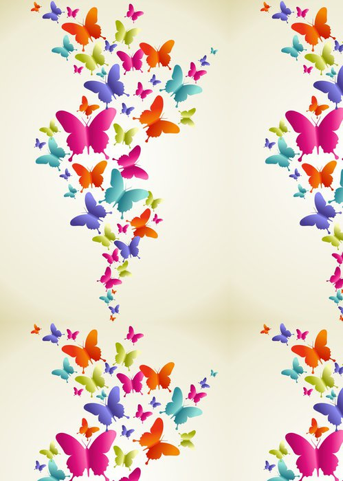 Tapeta Pixerstick Motýl barevné stříkající - Roční období