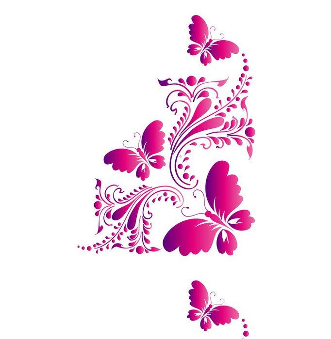 Tapeta Pixerstick Motýl, motýli vektor - Pozadí