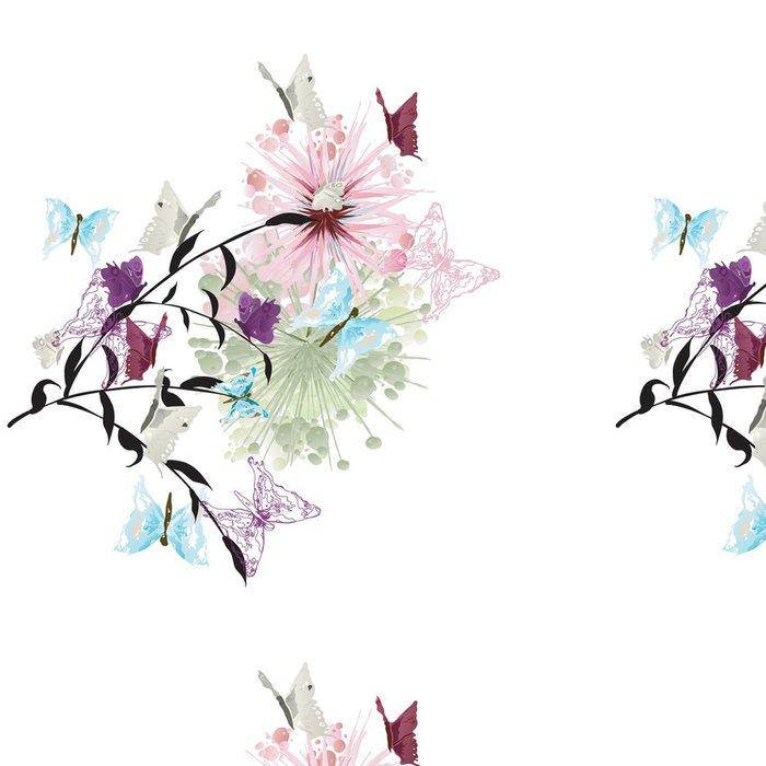 Vinylová Tapeta Motýli - Pozadí