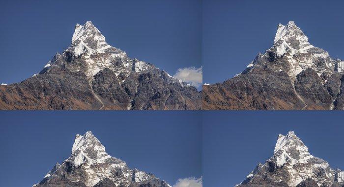 Tapeta Pixerstick Mount machapuchare nachází v pohoří Annapurna Nepálu - Asie