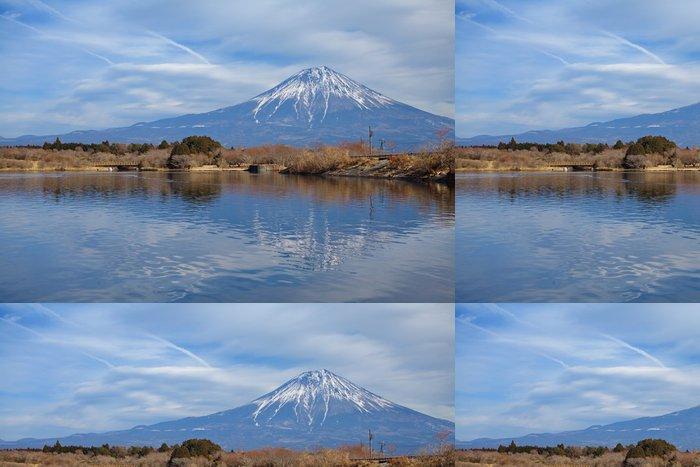 Vinylová Tapeta Mountain Fuji v zimním období od jezera Tanuki - Témata
