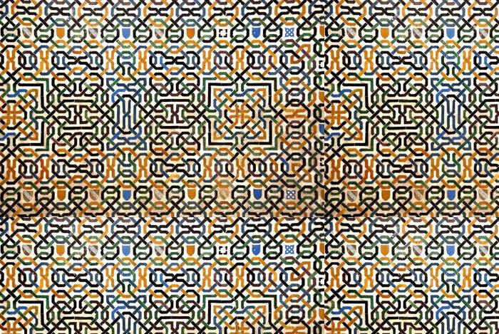 Tapeta Pixerstick Mozaika stěna na Alhambra v Granadě ve Španělsku - Evropa