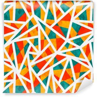 Vinylová Tapeta Mozaika trojúhelník bezešvé vzor s grunge efekt