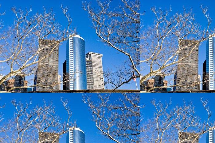 Tapeta Pixerstick Mrakodrapy v New Yorku - Americká města