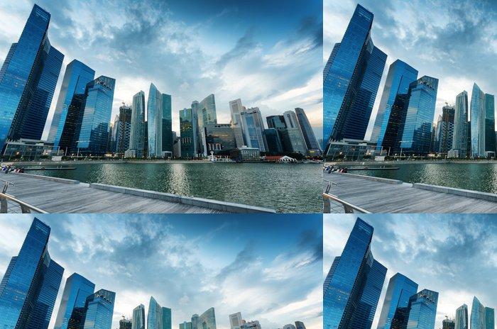 Tapeta Pixerstick Mrakodrapy ve finanční čtvrti Singapuru - Asijská města