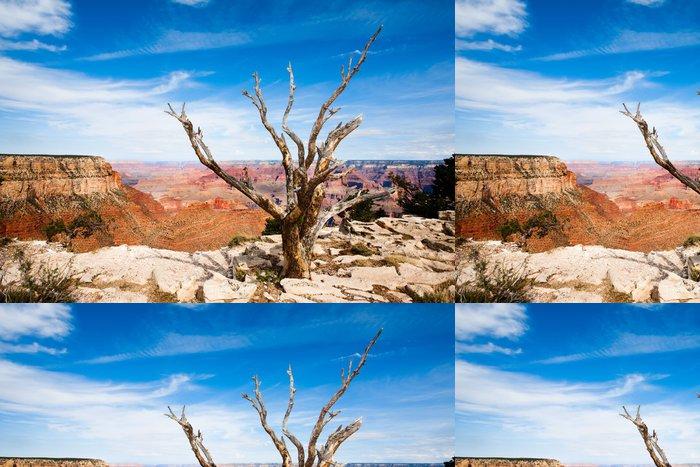 Tapeta Pixerstick Mrtvý strom na okraji Grand Canyonu - Pouště
