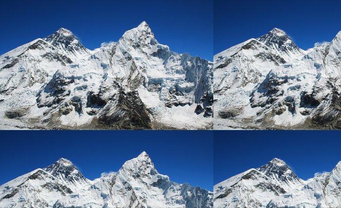 Tapeta Pixerstick Mt Everest a Nuptse napravo v Himalájích, Nepálu. - Témata