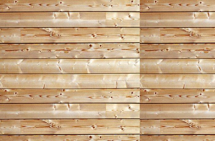 Vinylová Tapeta Mur de chata en madriers de Bois Blanc - iStaging