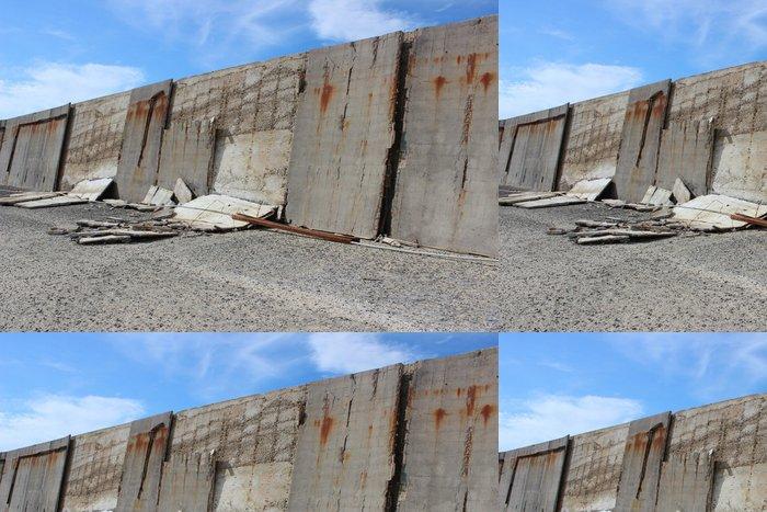 Tapeta Pixerstick Muro degradato - Těžký průmysl