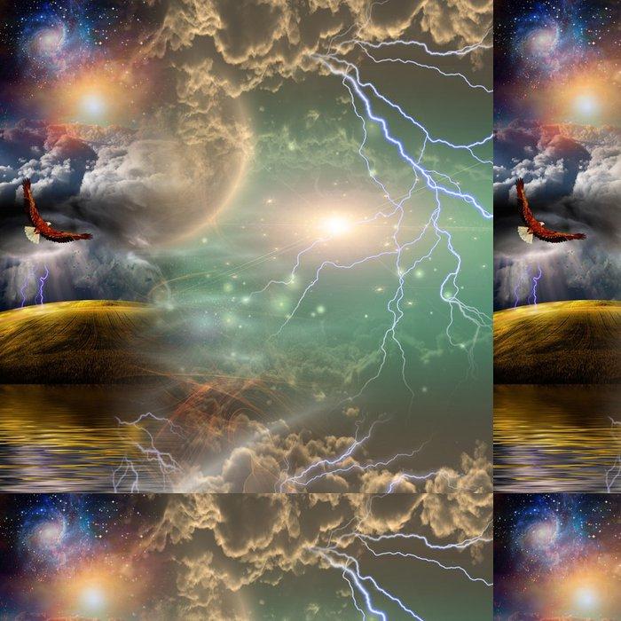 Tapeta Pixerstick Mystickou krajinou Složení - Nebe