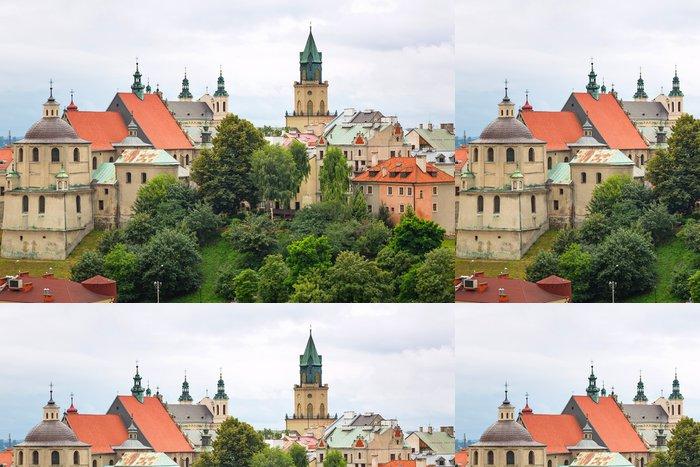Tapeta Pixerstick Nádherná architektura starého města v polském Lublinu - Témata