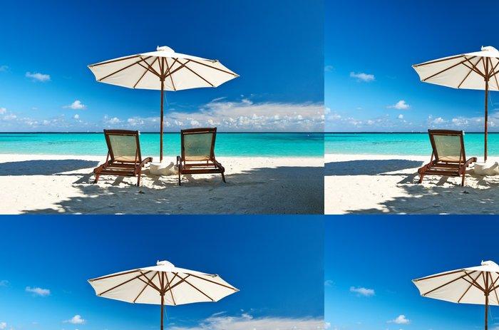 Vinylová Tapeta Nádherná pláž na Maledivách - Prázdniny