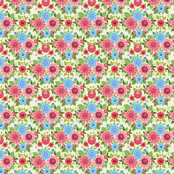 Tapeta Pixerstick Nádherné květinové bezešvé textury - Pozadí