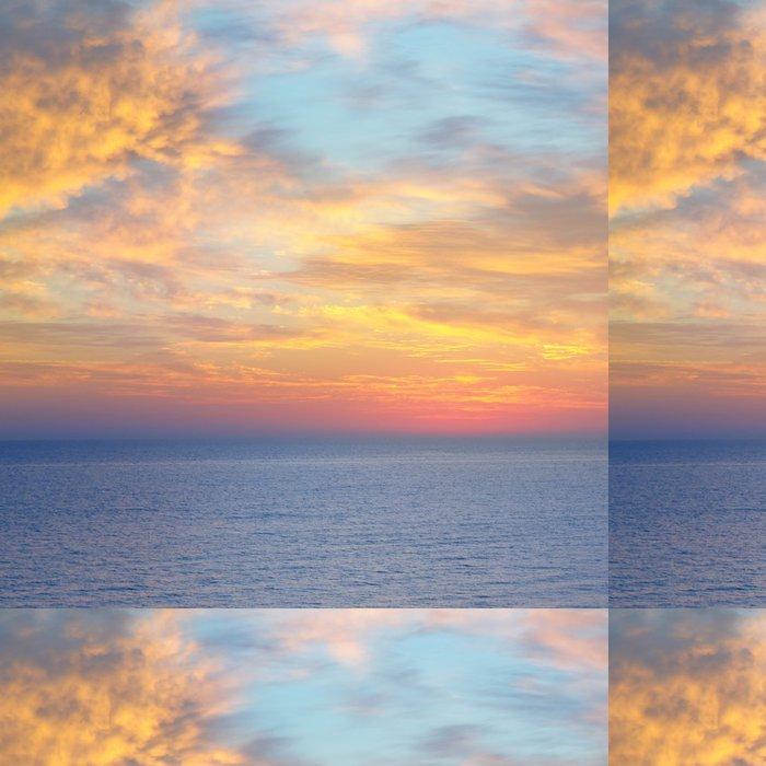 Tapeta Pixerstick Nádherný západ slunce nad mořem - Voda