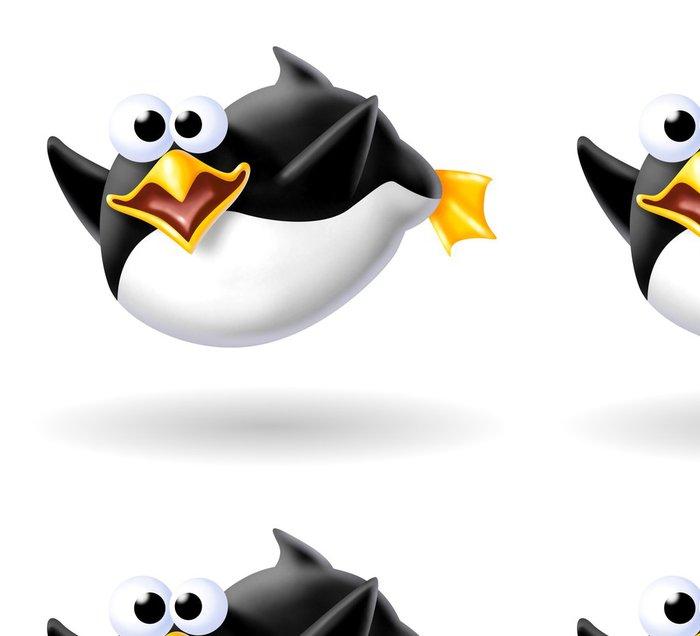 Tapeta Pixerstick Náladový tučňák - Ptáci