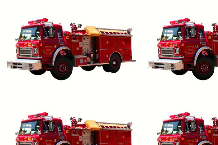 Tapeta Pixerstick Nám firetruck - Na cestě