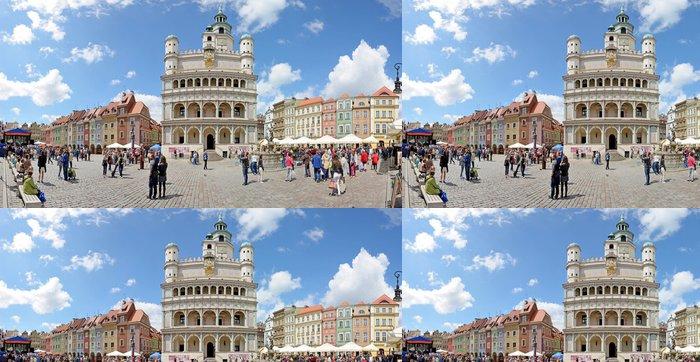 Tapeta Pixerstick Náměstí Market, Poznaň, Polsko - Stitched Panorama - Témata