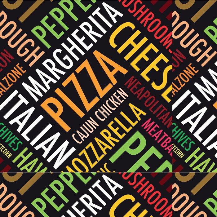 Vinylová Tapeta Náměstí pizza pozadí v černé a bílé - Do restaurace