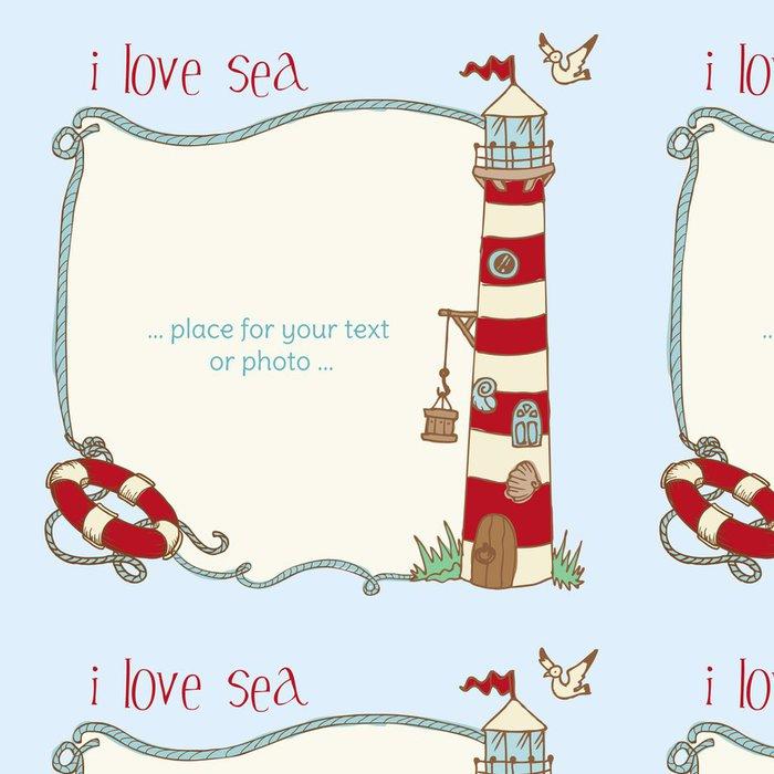 Tapeta Pixerstick Námořní Card - s místem pro váš text či fotka do vektoru - Prázdniny