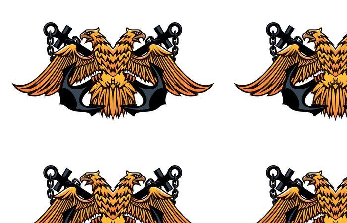 Tapeta Pixerstick Námořní znak s dvojitým šel orel - Úspěch