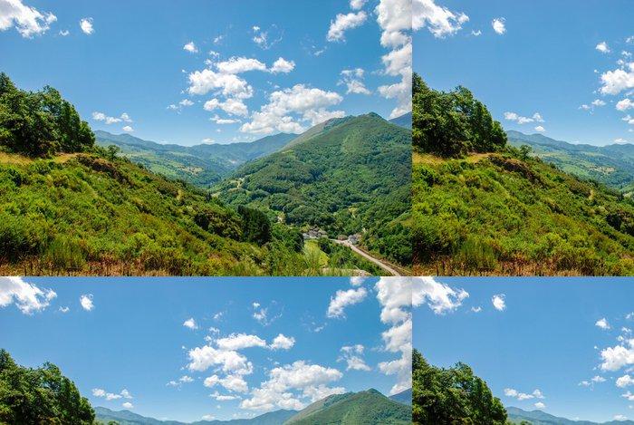 Tapeta Pixerstick Narcea údolí řeky - Hory