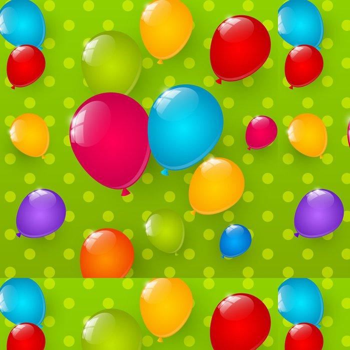 Tapeta Pixerstick Narozeniny pozadí s barevnými balónky - Slavnosti