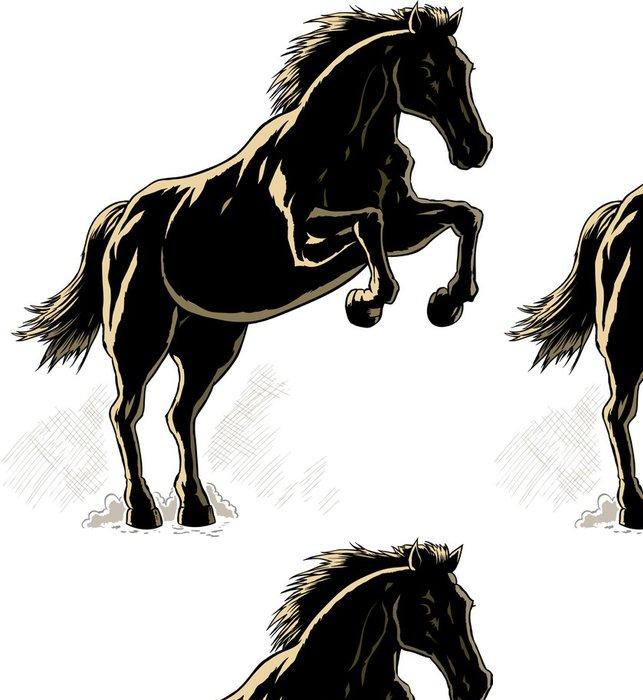 Tapeta Pixerstick Nástin koně. - Úspěch