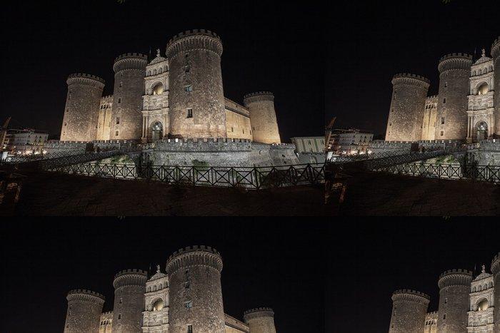 Tapeta Pixerstick Neapol nocturne na Castello Maschio Angioino - Evropa