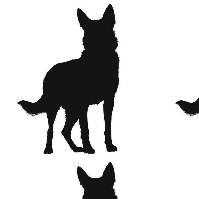 Vinylová Tapeta Německý ovčák Silhouette - Savci