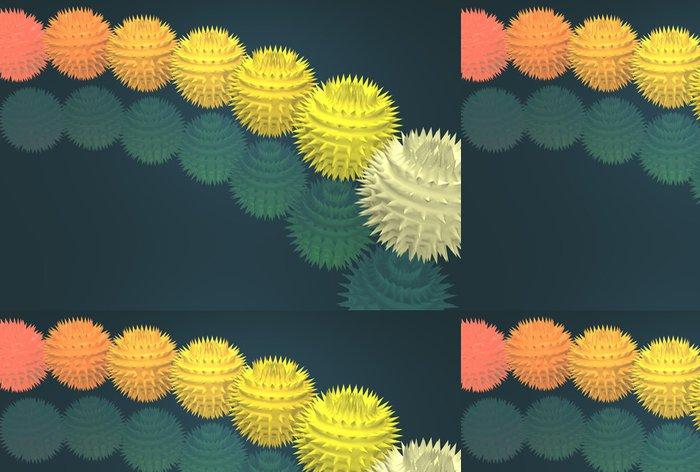Tapeta Pixerstick Neobvyklé pichlavé koule různých barev - Pozadí