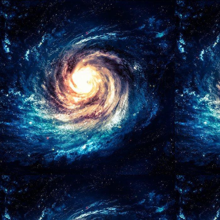 Tapeta Pixerstick Neuvěřitelně krásná spirální galaxie kdesi v hlubokém vesmíru - Vesmír