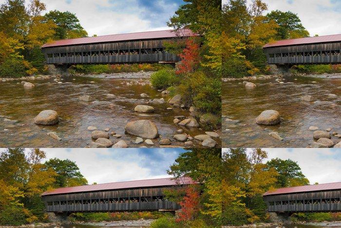 Tapeta Pixerstick New England vztahuje během podzimní sezóny most - Roční období