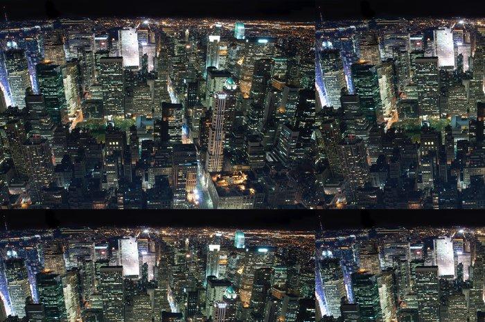 Tapeta Pixerstick New York City at Night - Americká města