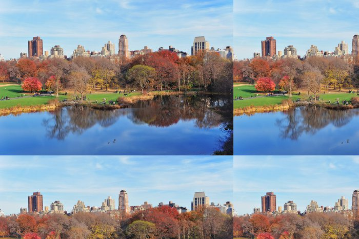 Tapeta Pixerstick New York City Central Park na podzim - Amerika