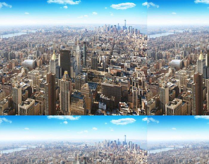 Tapeta Pixerstick New York City Letecký pohled - Americká města