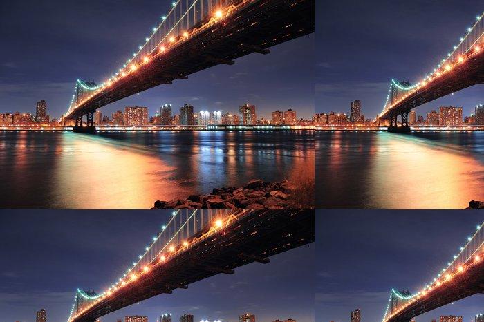 Tapeta Pixerstick New York City Manhattan Bridge - Amerika