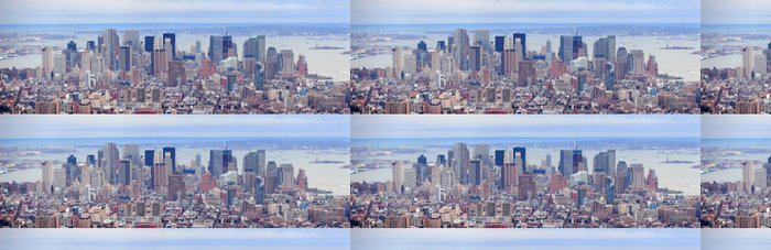 Tapeta Pixerstick New York City Manhattan downtown mrakodrapy panorama - Amerika