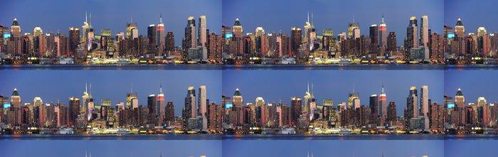 Vinylová Tapeta New York City Manhattan Midtown panorama za soumraku - Amerika