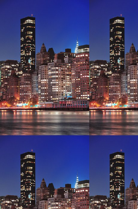 Vinylová Tapeta New York City Manhattan Midtown panorama - Amerika