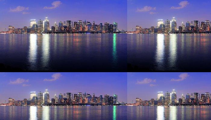 Tapeta Pixerstick New York City Manhattan soumrak panorama - Jiné