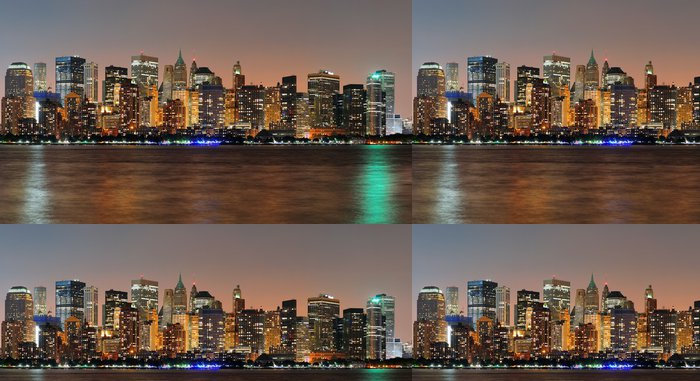 Tapeta Pixerstick New York City Manhattan soumrak panorama - Amerika
