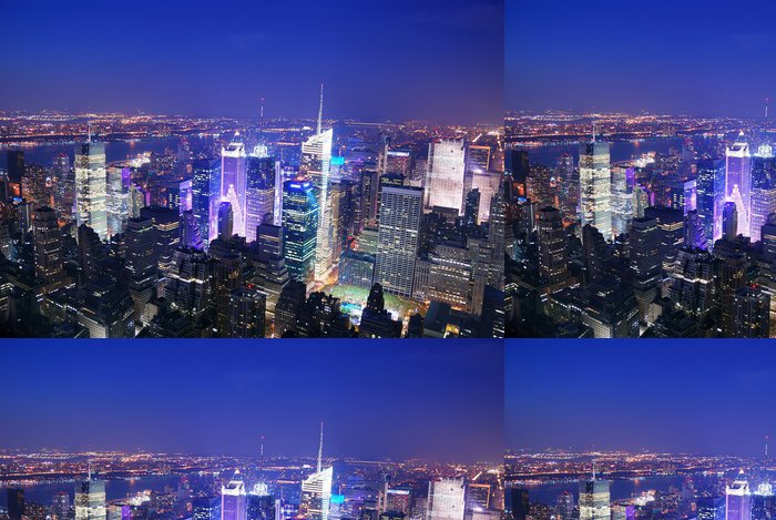Vinylová Tapeta New York City Manhattan Times Square skyline letecký pohled - Amerika