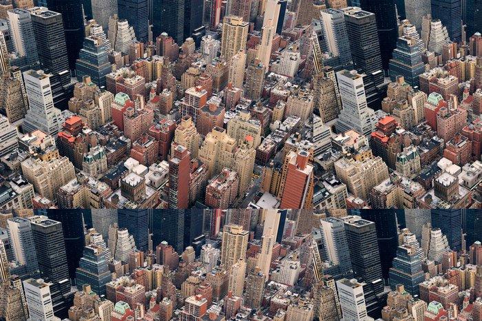 Vinylová Tapeta New York City Manhattan ulice letecký pohled - Amerika