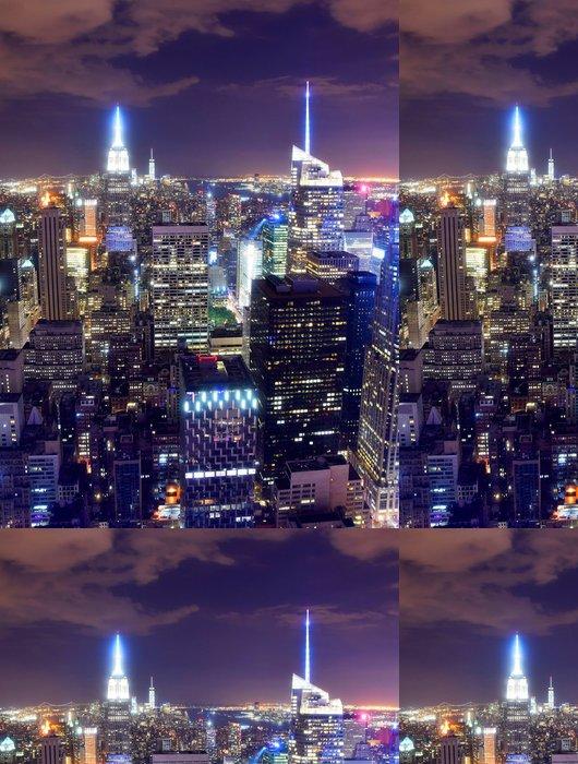 Tapeta Pixerstick New York City panorama v noci - Americká města