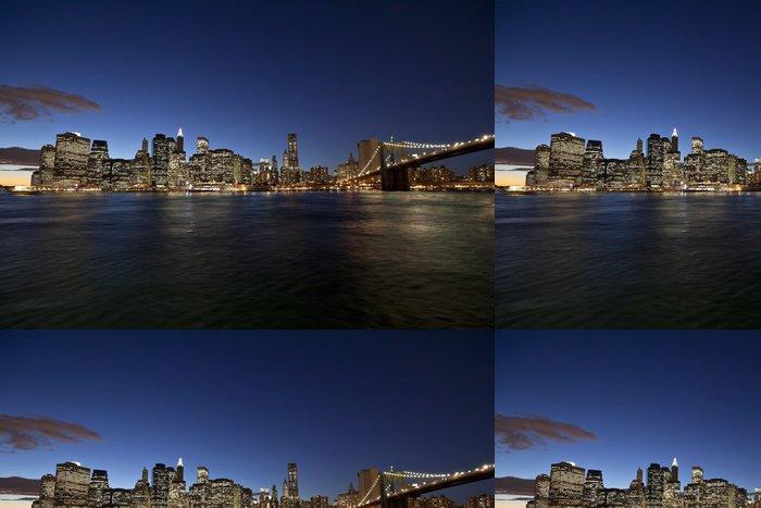 Tapeta Pixerstick New York City panorama w Brooklyn Bridge - Brooklynský Most